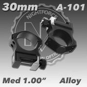 "Nightforce A101: 1.00"" Medium 30mm Ultralite Rings"