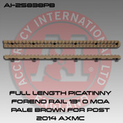 "Accuracy International 25838PB: Full Length Picatinny Rail Forend 13"" 0 MOA Pale Brown"