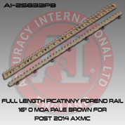 "Accuracy International 25833PB: Full Length Picatinny Forend Rail 16"" 0 MOA Pale Brown"