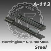 Nightforce A113: Rem 700 L/A 1pc 40 MOA Base
