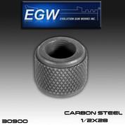 EGW: Thread Protector Carbon Steel 1/2x28 - blued finish