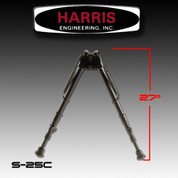 "Harris S-25C: Bipod Sling Swivel Stud Mount 13-1/2"" to 27"" Black"