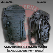 Accuracy International AI-40L: Maverick 41 Backpack (Excludes Hip Belt) - Black