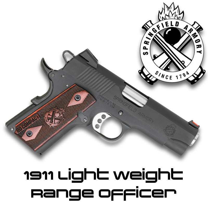 Springfield Armory LW126739: 1911 Lite Weight Range Officer .45 ACP ...
