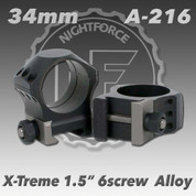 "Nightforce A216: 1.5"" X-Treme 34mm Ultralite Rings"