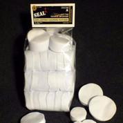 """Seal 1 1010T: Bulk Cotton Patches 1 3/4"""" .270 - .35 (1000 Per Bag)"""
