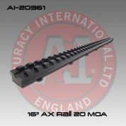 "Accuracy International AI-20361: Full Length Picatinny Forend Rail - 16"" - 20 MOA"