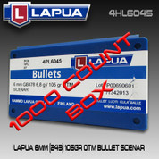 Lapua 4HL6045: 6mm (.243) Scenar 105gr HPBT 1000/Box
