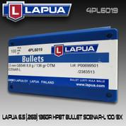 Lapua 4PL6019: 6.5cal 136gr Scenar Lockbase 100/Box