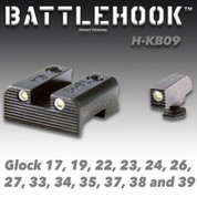 Battlehook H-KB09: Sight Sets For Glock Pistols, Tritium Front and Rear