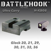 Battlehook H-KB08: Sight Sets For Glock Pistols Ultra Carry, Tritium Front Black Rear