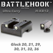 Battlehook H-KB12: Sight Sets For Glock Pistols, Ultra Carry, Tritium Front and Rear