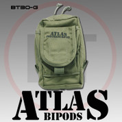 Atlas BT30G: AccuShot Bipod Pouch, Colors-BT30G Green