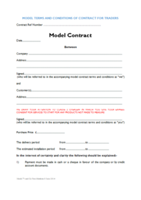 Model Terms and Conditions of Contract for non-GGF Members (ref: 50.4)