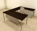 4pc U Shaped Modern Contemporary Executive Office Desk Set, #OF-CON-U70