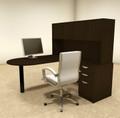 4pc L Shaped Modern Executive Office Desk, #OT-SUL-L24