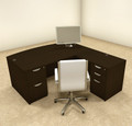 4pc L Shaped Modern Executive Office Desk, #OT-SUL-L4