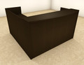 3pc L Shaped Modern Office Reception Desk, #OT-SUL-R8