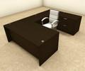 4pc U Shaped Modern Executive Office Desk, #OT-SUL-U36