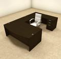 4pc U Shaped Modern Executive Office Desk, #OT-SUL-U4