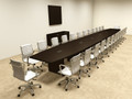 Modern Boat Shapedd 28' Feet Conference Table, #OF-CON-C105