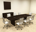 Modern Boat Shapedd 10' Feet Conference Table, #OF-CON-C60