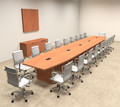 Modern Boat Shapedd 22' Feet Conference Table, #OF-CON-C86