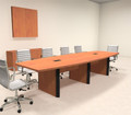Modern Boat Shaped 12' Feet Conference Table, #OF-CON-CP6