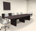 Modern Boat Shaped 12' Feet Conference Table, #OF-CON-CP8