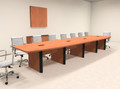 Modern Boat Shaped 18' Feet Conference Table, #OF-CON-CP21