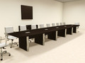 Modern Boat Shaped 22' Feet Conference Table, #OF-CON-CP35