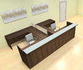 8pc 12' Feet U Shaped Glass Divider Counter Reception Desk Set, #CH-AMB-R19