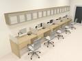 Five Person Modern Divider Office Workstation Desk Set, #CH-AMB-SP100