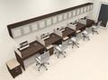 Five Person Modern Divider Office Workstation Desk Set, #CH-AMB-SP119