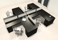Four Person L Shaped Modern Divider Office Workstation Desk Set, #CH-AMB-SP38