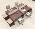 Four Persons Modern Office Divider Workstation Desk Set, #CH-AMB-FP21