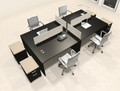 Four Persons Modern Office Divider Workstation Desk Set, #CH-AMB-FP38