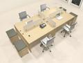 Four Persons Modern Office Divider Workstation Desk Set, #CH-AMB-FP40