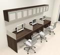 Three Person Modern Divider Office Workstation Desk Set, #CH-AMB-SP89