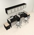 Two Person Modern Divider Office Workstation Desk Set, #CH-AMB-SP103