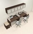 Two Person Modern Divider Office Workstation Desk Set, #CH-AMB-SP104