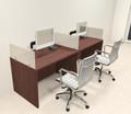 Two Person Modern Divider Office Workstation Desk Set, #CH-AMB-SP61