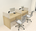 Two Person Modern Divider Office Workstation Desk Set, #CH-AMB-SP65