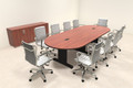 Modern Racetrack 10' Feet Conference Table, #MT-CSD-C88