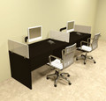 Two Person Divider Modern Office Workstation Desk Set, #OT-SUL-SP4