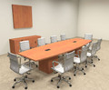 Modern Boat Shaped Cube Leg 12' Feet Conference Table, #OF-CON-CQ26