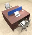 Two Person Modern Blue Divider Office Workstation Desk Set, #OT-SUL-FPB14