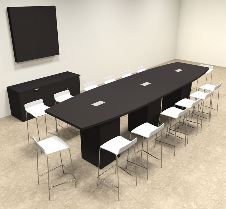 Boat Shape Counter Height Feet Conference Table OFCONCT - 14 foot conference room table