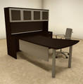 4pc L Shaped Modern Contemporary Executive Office Desk Set, #OF-CON-L25