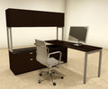 3pc L Shaped Modern Contemporary Executive Office Desk Set, #OF-CON-L40
